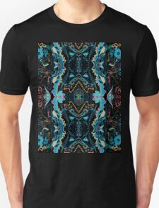 Abstract Marker Pattern - Black & Teal T-Shirt
