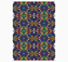 Colorful Psychedelic Pattern - Blue 1 Baby Tee