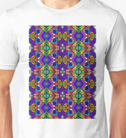 Colorful Psychedelic Pattern - Blue 1 Unisex T-Shirt