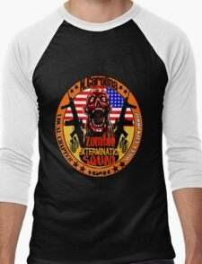 N.Carolina Zombie Extermination Squad Men's Baseball ¾ T-Shirt