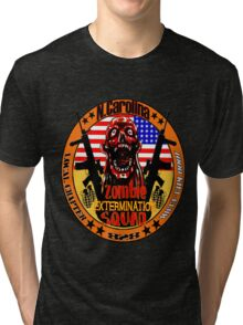 N.Carolina Zombie Extermination Squad Tri-blend T-Shirt
