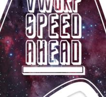 VWORP SPEED AHEAD Sticker