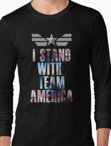 I Stand With Team America Long Sleeve T-Shirt