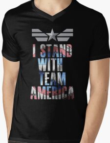I Stand With Team America Mens V-Neck T-Shirt