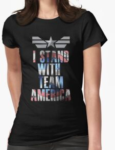 I Stand With Team America Womens Fitted T-Shirt