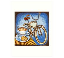 Brown Electra delivery bicycle coffee and amaretti Art Print