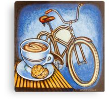 Brown Electra delivery bicycle coffee and amaretti Metal Print