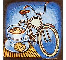 Brown Electra delivery bicycle coffee and amaretti Photographic Print
