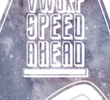 VWORP SPEED AHEAD (alternate) Sticker