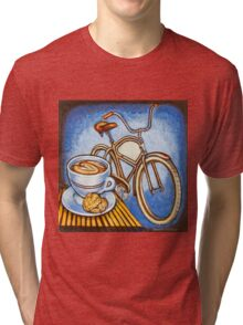 Brown Electra delivery bicycle coffee and amaretti Tri-blend T-Shirt