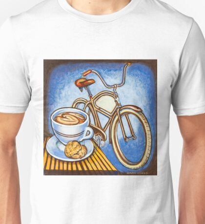 Brown Electra delivery bicycle coffee and amaretti Unisex T-Shirt