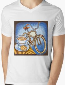 Brown Electra delivery bicycle coffee and amaretti Mens V-Neck T-Shirt
