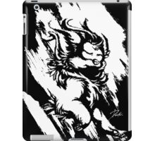 Run Wild (White/Black) iPad Case/Skin