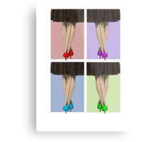 Vibrant Shoes Metal Print