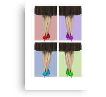 Vibrant Shoes Canvas Print