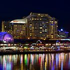 Darling Harbour at Night by Chris  Randall