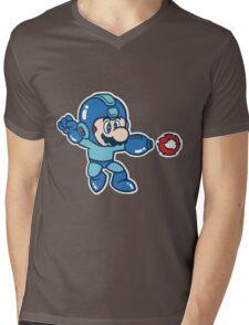 Mega Mario Mens V-Neck T-Shirt
