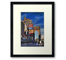 Towers and bridges Framed Print