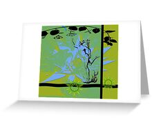 Mercury on the golden mean. Greeting Card