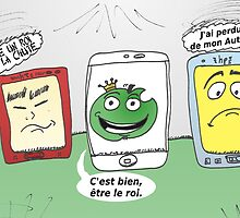 Apple HTC hp smartphones en caricature by Binary-Options