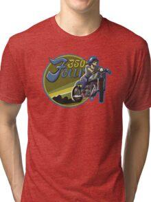 350 Four Blue Rainbow Tri-blend T-Shirt