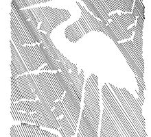 Negative Space Heron by Bernadette Crotty