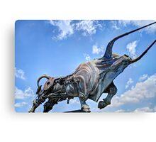 Steampunk Bull Canvas Print