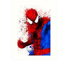 Web-Head - Splatter Art Art Print