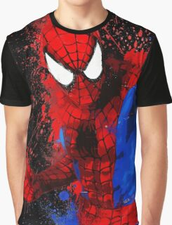 Web-Head - Splatter Art Graphic T-Shirt