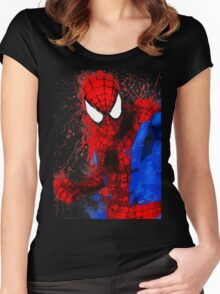 Web-Head - Splatter Art Women's Fitted Scoop T-Shirt