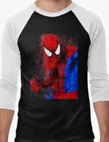 Web-Head - Splatter Art Men's Baseball ¾ T-Shirt