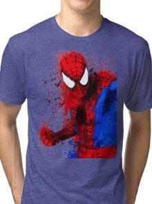 Web-Head - Splatter Art Tri-blend T-Shirt