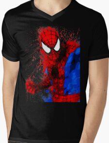 Web-Head - Splatter Art Mens V-Neck T-Shirt