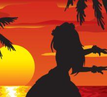 Hawaiian Sunset Sticker