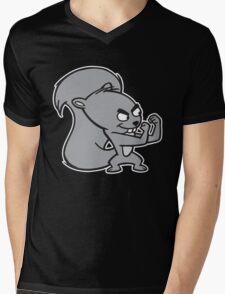 Fighting Squirrel Mens V-Neck T-Shirt