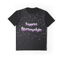 Support Fibromyalgia - Purple Stars Graphic T-Shirt