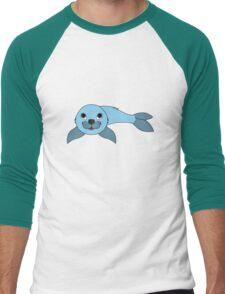 Light Blue Baby Seal Men's Baseball ¾ T-Shirt