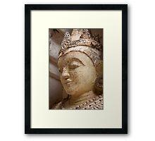 Buddha Statue - Bagan Framed Print