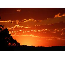 September Sunset Photographic Print