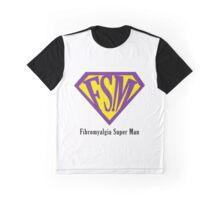 Fibromyalgia Super Man Graphic T-Shirt