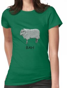 Bad Mood Sheep T-Shirt Womens Fitted T-Shirt
