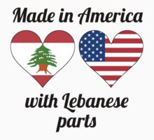 Made In America With Lebanese Parts Kids Tee