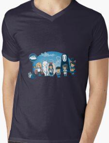 Glibli On Bus Mens V-Neck T-Shirt