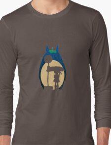 Rain Totoro Long Sleeve T-Shirt