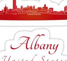 Albany skyline in red Sticker