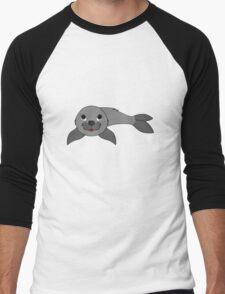 Gray Baby Seal Men's Baseball ¾ T-Shirt