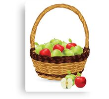 Red and Green apples Canvas Print