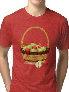 Red and Green apples Tri-blend T-Shirt