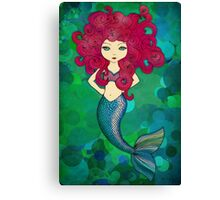 Mermaids have bad hair days, too. Canvas Print
