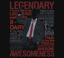 Barney Stinson - Legendary T-shirt of Awesomeness by Azafran